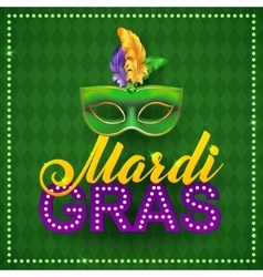 Mardi Gras Party Mask PosterCalligraphy and vector image vector image