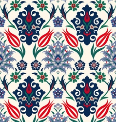 royal floral seamless background vector image