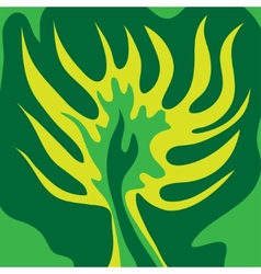 Abstract green tree green color vector image