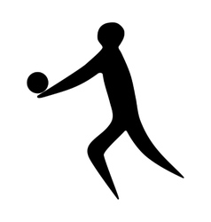 Athlete man volleyball player silhouette vector image