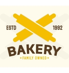 Bakery shop design element vector image
