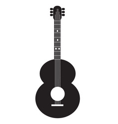 guitar icon on white background guitar sign vector image