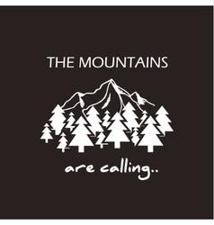 Mountains logo concept vector image