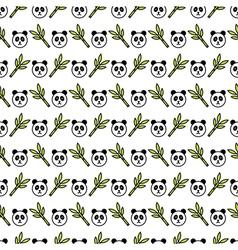 Panda pattern vector image vector image