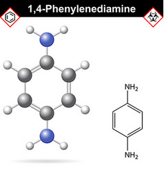 Para Phenylenediamine chemical structure vector image