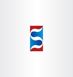 red blue logo letter s logotype s icon element vector image