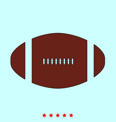 american football ball set it is color icon vector image