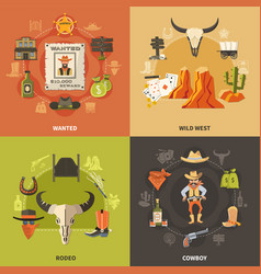 cowboy design concept vector image vector image