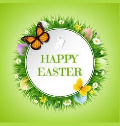 happy easter postcard vector image vector image