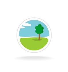 Landscape design logo template vector image vector image