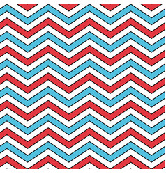 seamless chevron pattern in blue red and white vector image