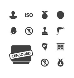 13 stamp icons vector