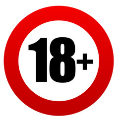 18 age restriction sign vector