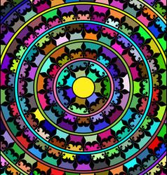 Abstract image of mandala consisting of lines and vector
