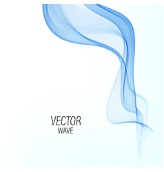 Abstract smooth wave curve flow blue vector