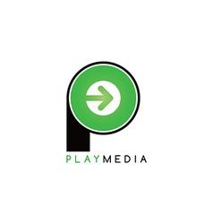 Arrow media play icon theme logotype vector