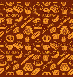 Bakery seamless pattern vector