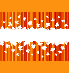 banner with colorful autumn leaves copy space vector image