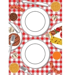 BBQ party table vector image
