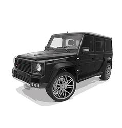 Black big representative jeep vector
