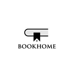 book home logo design concept vector image