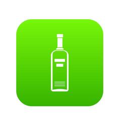 bottle of vodka icon digital green vector image