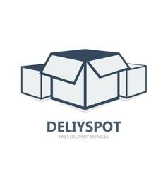 Box logo or symbol icon vector image