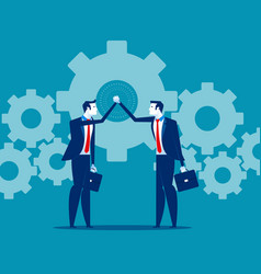 Business teamwork and hand coordination concept vector