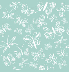butterflies pattern abstract seamless vector image