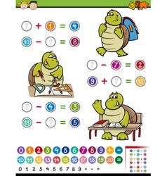 Calculating game cartoon vector