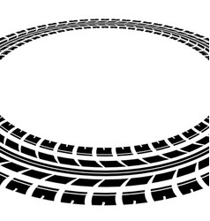 Circle tire track vector