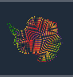 colorful antarctica made by strokes vector image