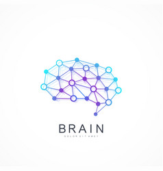 Colorful template brain logo artificial vector