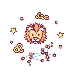 Cute zodiac sign vector