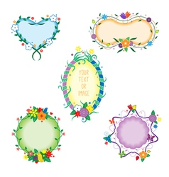 decorative colorful frames vector image