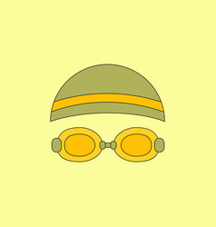 Diver swimmer equipment vector