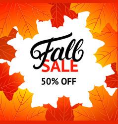 Fall sale design template vector