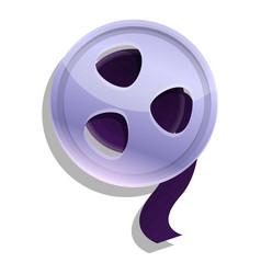 Filmstrip reel icon cartoon style vector