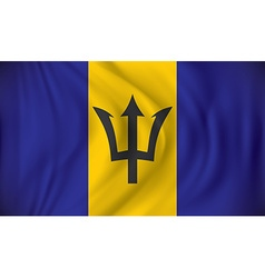 Flag of Barbados vector