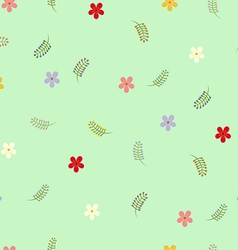 Flower seamless wallpaper vector image