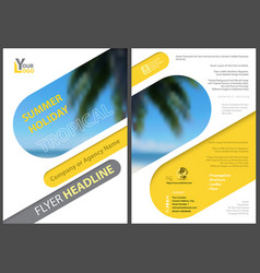 flyer template summer holiday vector image