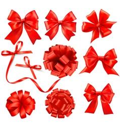 Gift bows and ribbons vector