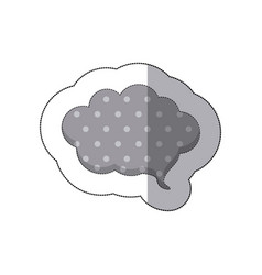 gray cloud chat bubble icon vector image