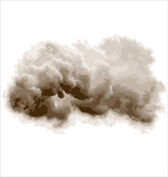 gray cloud vector image