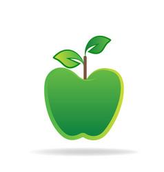 green apple logo graphic icon vector image