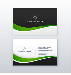 Green business card professional design template vector