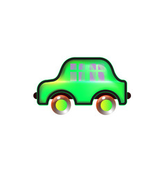 green home car toy icon bright for baby color in vector image