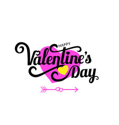 happy valentine s day celebration text for vector image