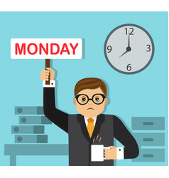 Hard work on monday vector