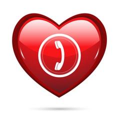 heart calling vector image